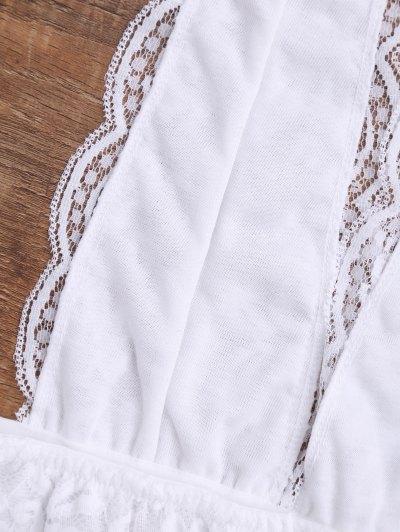 Galloon Lace Plunge Halter Bra от Zaful.com INT