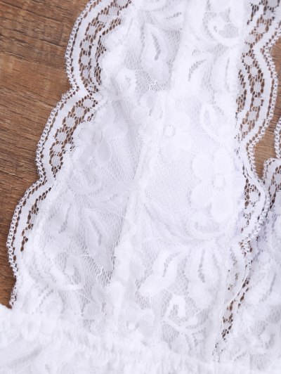 Galloon Lace Plunge Halter Bra от Zaful.com INT