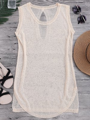 See-Through Beach Cover Up Tank Dress