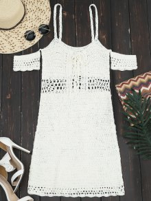 Hollow Out Lace Up Cami Knit Dress