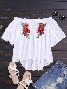 Floral Embroidered Off Shoulder Top