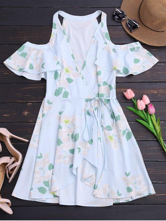 الكشكشة الباردة الكتف التفاف اللباس مصغرة - الأزهار M