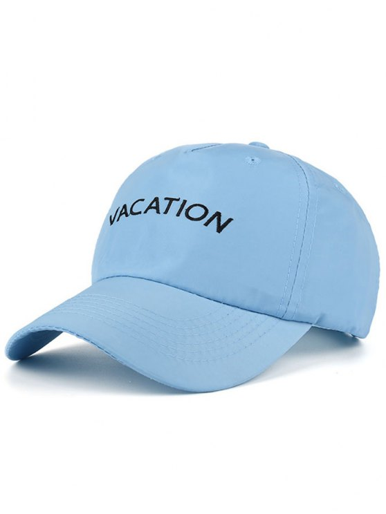 chic Waterproof Letters Embroidery Baseball Hat - BLUE
