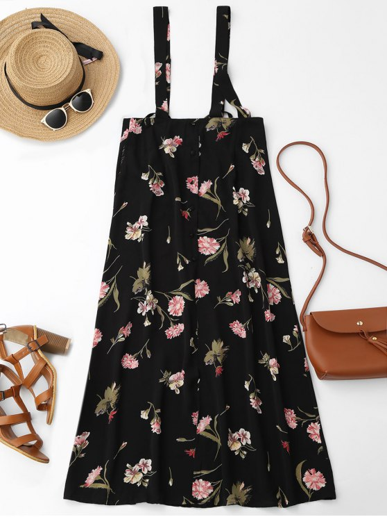 lady Floral Maxi Suspender Skirt - FLORAL M