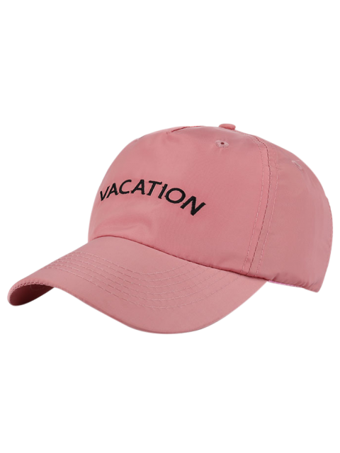 unique Waterproof Letters Embroidery Baseball Hat - PINK  Mobile