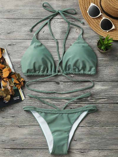 Zaful Braided Strappy Bikini Set