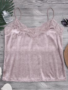 Lace Velvet Camisole Lounge Top
