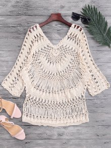 See-Through Crochet Cover Up Top