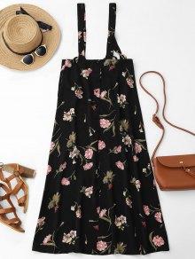 Floral Maxi Suspender Skirt