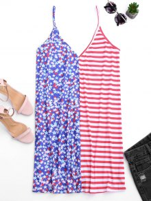 Cami V Back American Flag Dress