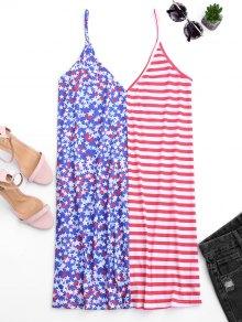 Cami V Back American Flag Dress - Multi Xl