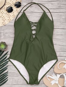 Slimming Lacing One Piece Swimsuit