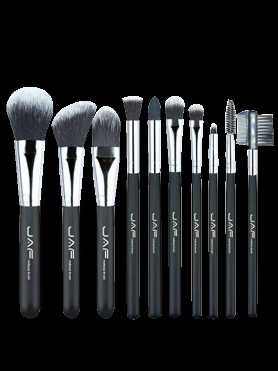 best 10Pcs Portable Nylon Beauty Makeup Brushes Set - BLACK