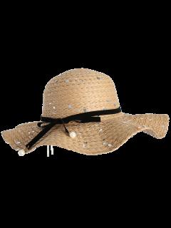 انفصال الشريط بونوت الترتر قبعة القش - قهوة