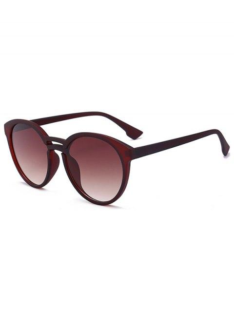 buy Anti UV Retro Double Crossbar Sunglasses - BROWN FRAME + GREY LENS  Mobile