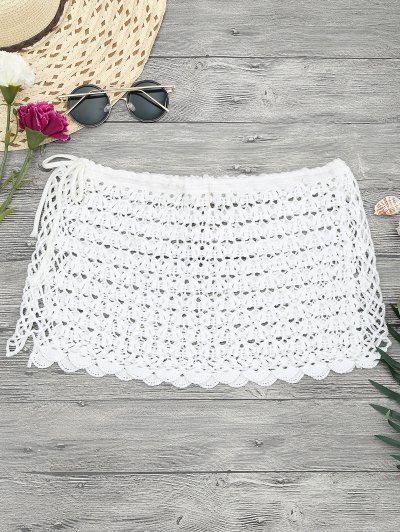 Zaful Crochet Mini Beach Cover Up Skirt