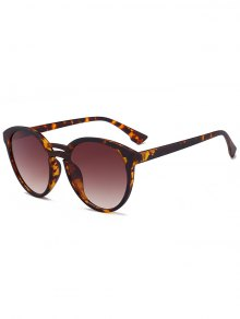 Anti UV Retro Double Crossbar Sunglasses - Leopard+ Double Dark Brown