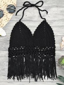 Tassels Crochet Midi Bikini Crop Top