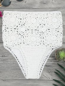 Crochet High Waisted Bikini Bottoms