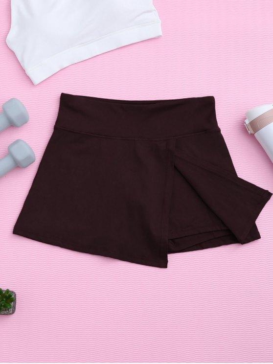 Pantalones deportivos con falda - Burdeos M
