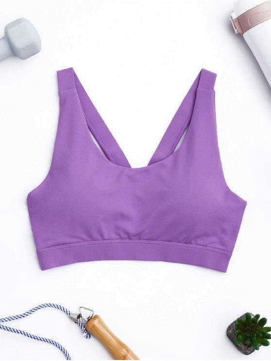 Suéter del sujetador del deporte Top sudor - Púrpura M