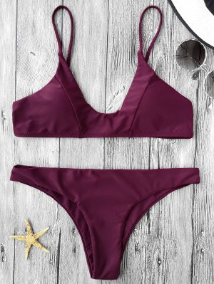 Cami Padded Bikini Set - Burgundy
