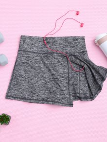 Skirted Space Dyed Sporty Shorts