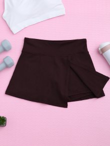 Skirted Sporty Shorts - Claret S