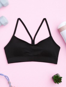 Padded Y Back Activewear Bra - Black