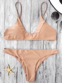 Cami Padded Bikini Set - Light Khaki L