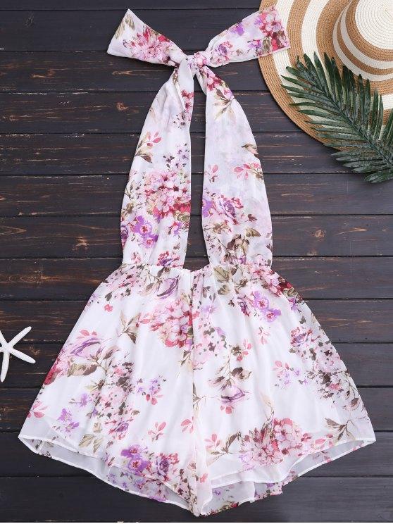 Pantalón sin tirantes floral con espalda - Floral S