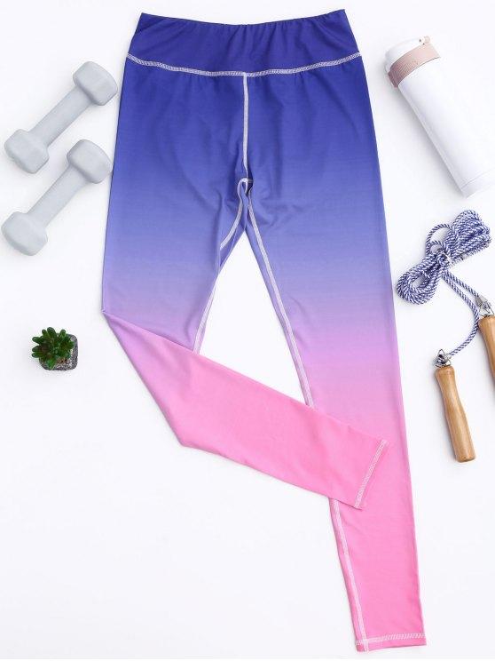 اللباس اليوغا أومبير الركاب - تدريجي الوردي L