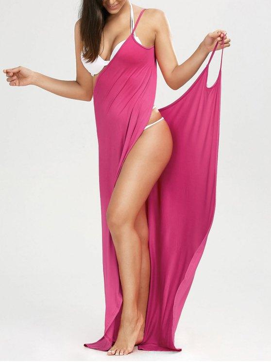 Maxi Vestido Encubierto de Playa con Tirantes Finos - Cientos de Fructosa L