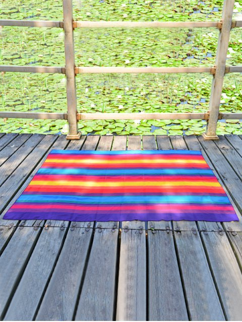outfit Fancy Rainbow Striped Ombre Beach Throw - STRIPE  Mobile