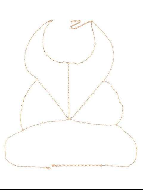 online Geometric Circle Bra Body Chain - GOLDEN  Mobile