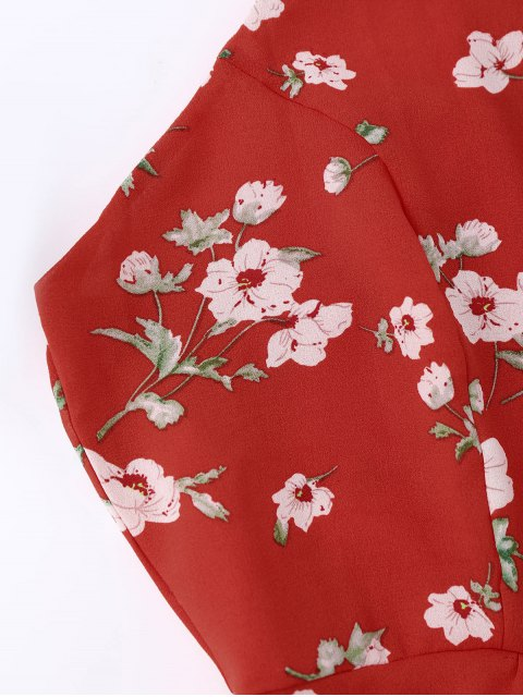 new Cami Tiny Floral Smock Dress - RED M Mobile