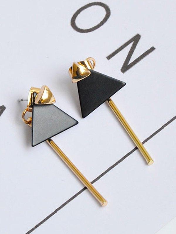 Triangle Bar Front Back Earrings