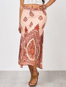 Floral Slit Beach Maxi Skirt