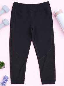 Panel de malla Capri Leggings