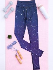 Constelación Polainas De La Impresión De Estribo - Púrpura