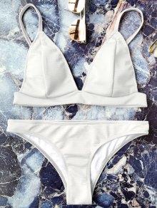 Cami Plunge Juego de bikini Bralette