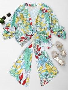 Floral Kimono Wrap Blouse