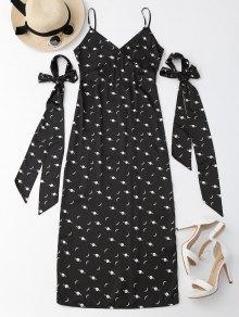 Cami Slit Moon Dress With Arm Tie