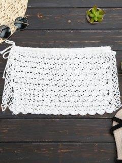 Crochet Mini Beach Cover Up Jupe - Blanc
