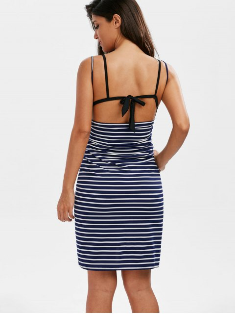 chic Striped Open Back Cover-ups Dress - STRIPE XL Mobile