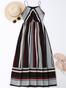 Maxi Holiday Sundress With Stripes