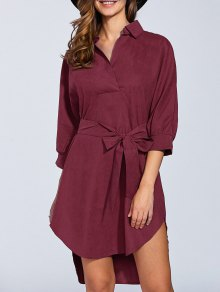 Self Tie Shirt Dress