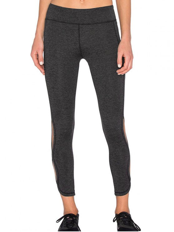 Leggings Tight Fit deportivo del recorte - Gris Oscuro M
