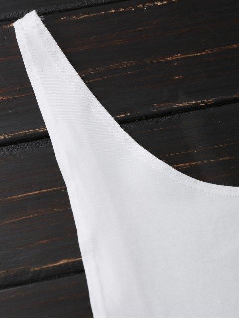 sale Skinny Sleeveless Backless Bodysuit - WHITE S Mobile