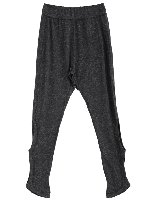 best Sporty Cutout Tight Fit Leggings - DEEP GRAY M Mobile